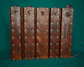 Five book A Song of Ice and Fire set with leather covers (Game of Thrones)