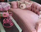 Vintage Pink Tufted Loveseat FREE SHIPPING!
