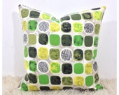 Cushion Cover Handmade From Vintage Fabric, Mid Century Throw Pillow