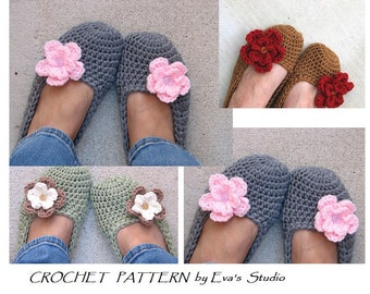 Crochet Pattern, Adult Slippers, Easy, Great for Beginners, Shoes Crochet Pattern Slippers, Pattern No. 7