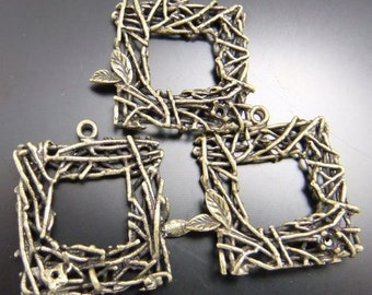 10PCS Antique Bronze Tone Bird Nest Charm Pendant Findings 02608