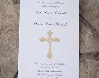 Custom Wedding Program, Folded