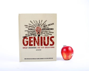 Book iPad Cover- Tablet Case made from a Book- Genius- Great Inventors and their Creations
