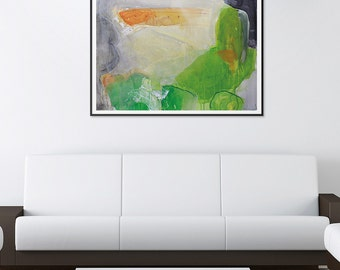 "Abstract painting landscape painting original painting 21.7"" x 31.5"" free shipping, Vague"