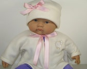 Soft Fleece  2 Piece Baby Jacket and Hat Set