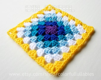 Double Crochet Granny Square chart. Pattern No 7 of the collection of Basic Crochet Shapes