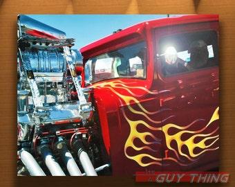 Hot Rod Photo, Muscle Cars, Boyfriend Gift, Automobile Art, Flaming Hoods, 5x7, 8x10, 11x14, 16x20, Murray Bolesta, Guy Thing, Car Prints