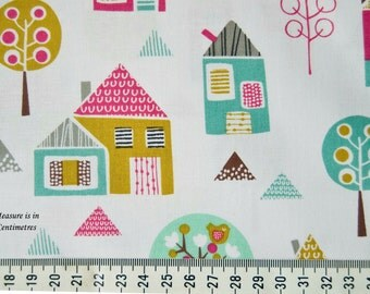 Fabric Dashwood Petit Street Houses Sold by the Half Metre - UK Shop - Craft Supplies