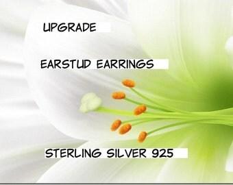 Earstud 925 Sterling Silver. Studs. UPGRADE