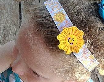 You Are My Sunshine Headband & Hair Clip Set 4 piece set!