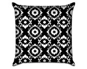 """Darling Damask - Original Illustrated Pattern Sofa Throw Pillow Envelope Cover for 18"""" inserts"""