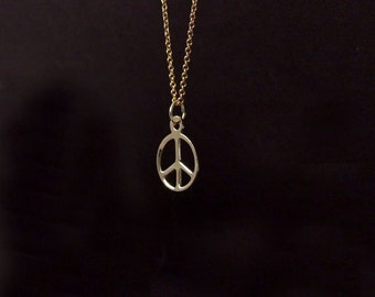 Gold Peace Necklace. Peace Necklace. Gold Filled Necklace. Peace Sign Necklace. Delicate Necklace. Layering Necklace. Dainty Necklace