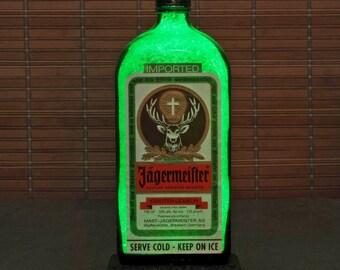 Jagermeister Liqueur 1 Liter LED Bottle Lamp Light Bar Sign Man Cave Sparkle Germany