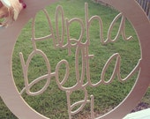 "Extra Large (24"") Go Greek!™ Circled Wooden Sorority Names Copyright Southern Nest 2014"