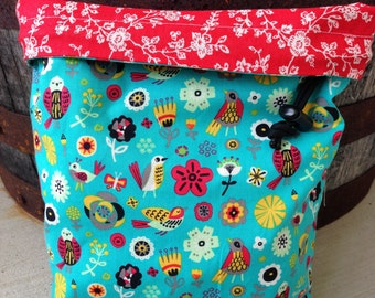 Feathered Friends - Knitting Project Bag - Phat Fiber