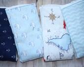 FREE SHIPPING Nautical Baby Burp Cloths Cloth Diaper Burp Cloth, Vintage Sailing Burp Cloths, Set of 4 Nautical Anchor Burpies by JuteBaby