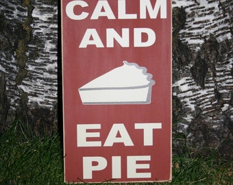 Thanksgiving Vinyl Board 'Keep Calm and Eat Pie' Family Dinner