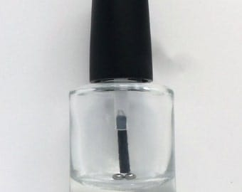 Empty Nail Polish Bottle with FLAT brush and mixing beads, Empty Bottles, Polish Bottles, Frankening Supplies, Lacquer Bottles, Empty Polish