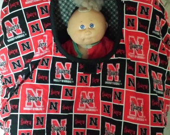 Nebraska Huskers Print baby Carrier Cozy Cover Up For Infant Car Seats