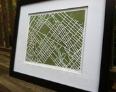 11x14 1 Layer Map FRAMED