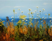 "Beach Weeds Queen Anne's Lace  12x16"" archival print  SIGNED by Alison Vernon"