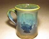 Wheel Thrown Turquoise Mug