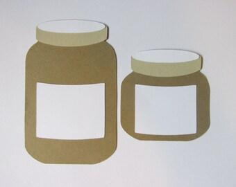 20 Mason Jars, Mason Jar die cuts, wedding tags, wedding wish tags, wedding place cards