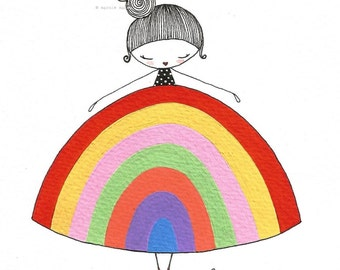 Rainbow Girl - giclee print