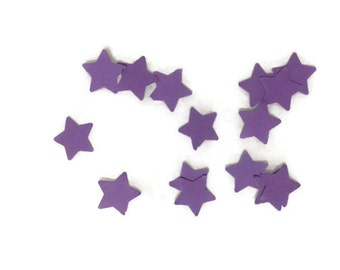 Pure Purple OR Your Color Choice Mini Stars Table Scatter / Confetti / Scrap Booking / Embellishments