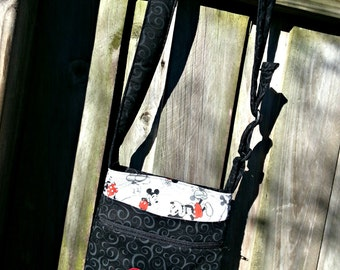 Disney Mickey Mouse Inspired Crossbody Hipster Bag