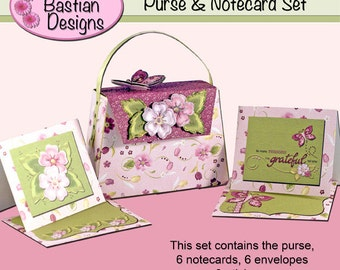 Purse & Notecard Set - 2 - Digital download