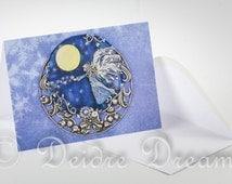 Angel Card, Greeting Card, Greetings Card, Christmas Card, Holiday Card, Yule