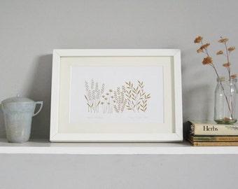 Herb Garden Paper cut