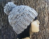 PATTERN:  Arie Beanie, textured banded pom pom hat, easy crochet PDF, Size Teen/Adult, InStAnT DoWnLoAd, Permission to Sell