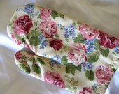 Pink and Red Roses Oven Mitts, Shabby Chic