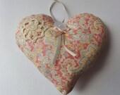 Fabric Hanging Heart SALE