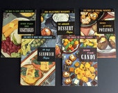 Vintage 1940s and 1950s Culinary Arts Institute Cookbook Set Numbers 11 12 13 14 15