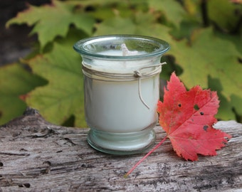 "Autumn Scents-Handpoured Natural Soy Candle Recycled 2.5+ oz ""Belle"" Jar- Belle Savon Vermont"