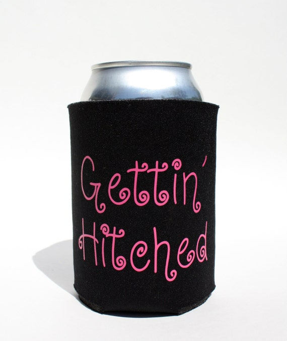 Christmas koozie staching through the snow beer by bebopprops for Beer koozie wedding favors