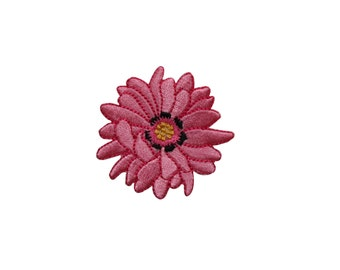 ID #6298 2IN Pink Mum Flower Plant Garden Iron On Embroidered Patch Applique