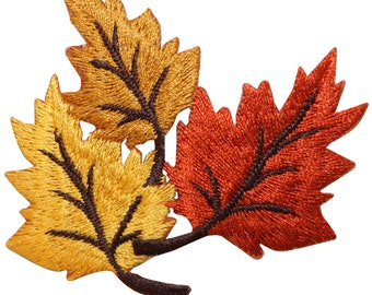 ID #7162 Tree Plant Leaf Autumn Fall Nature Embroidered Iron On Badge Applique Patc