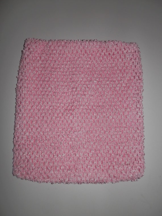"""Baby Pink Lined 11"""" Crochet Tube Top for Tutu Dresses"""