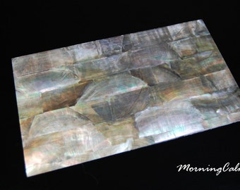 Black Mother of Pearl Veneer Sheet (MOP Nacre Overlay Inlay Luthier Abalone)