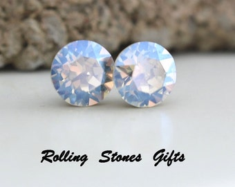 7.27mm Moonlight, Swarovski, Studs Xirius, Round Rhinestone, Stud Earrings, Moonlight Swarovski, Crystal Stud, Earrings, Crystal Earrings