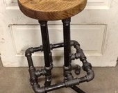 Industrial Bar Stool with Round Top