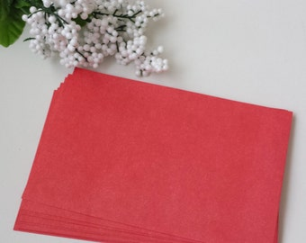Envelopes A8 Red / Set of 25 / Christmas /4th July / Party Invitations / Valentine