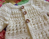 "Crochet Baby Sweater and Hat ""Pick Your Color"""