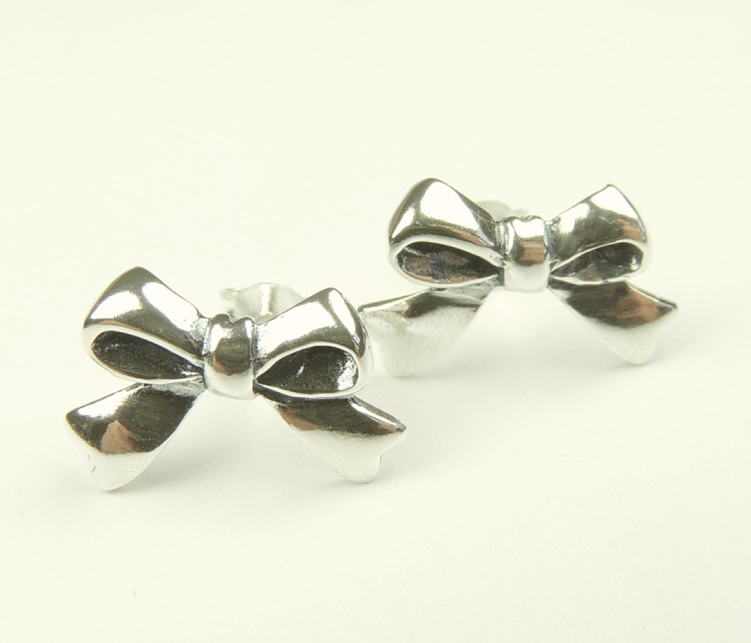 sterling silver bow stud earrings tiny bows stud