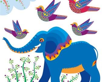 Children's Jungle Elephant print