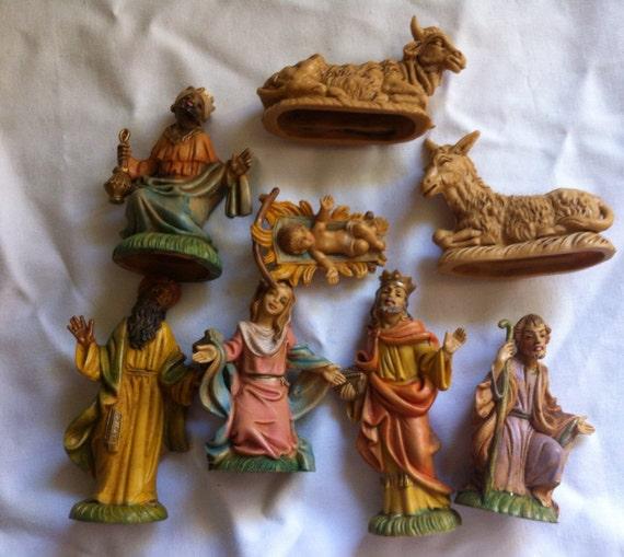 Christmas nativity set italian vintage italian christmas nativity set